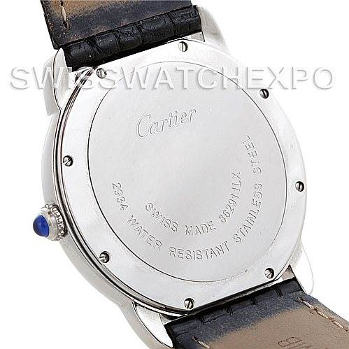 5747 Cartier Ronde Solo Steel Mens Watch W6700255 SwissWatchExpo