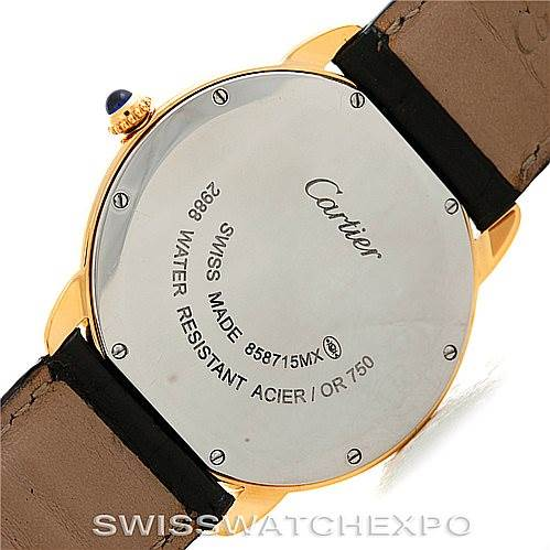 6241 Cartier Ronde Solo Gold and Steel Mens Watch W6700455 SwissWatchExpo