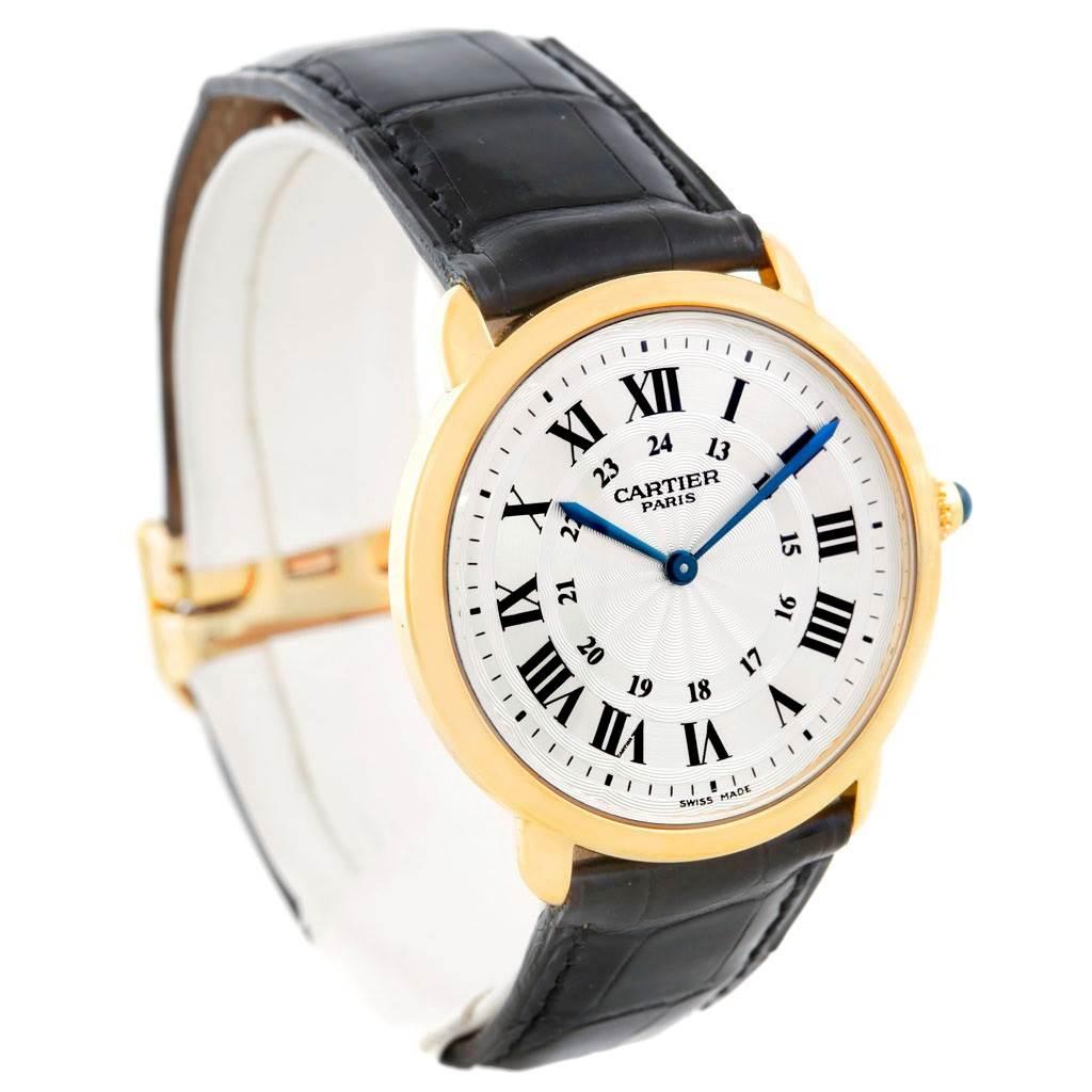 6439 Cartier Ronde Louis Privee 18K Yellow Gold Mechanical Mens Watch SwissWatchExpo