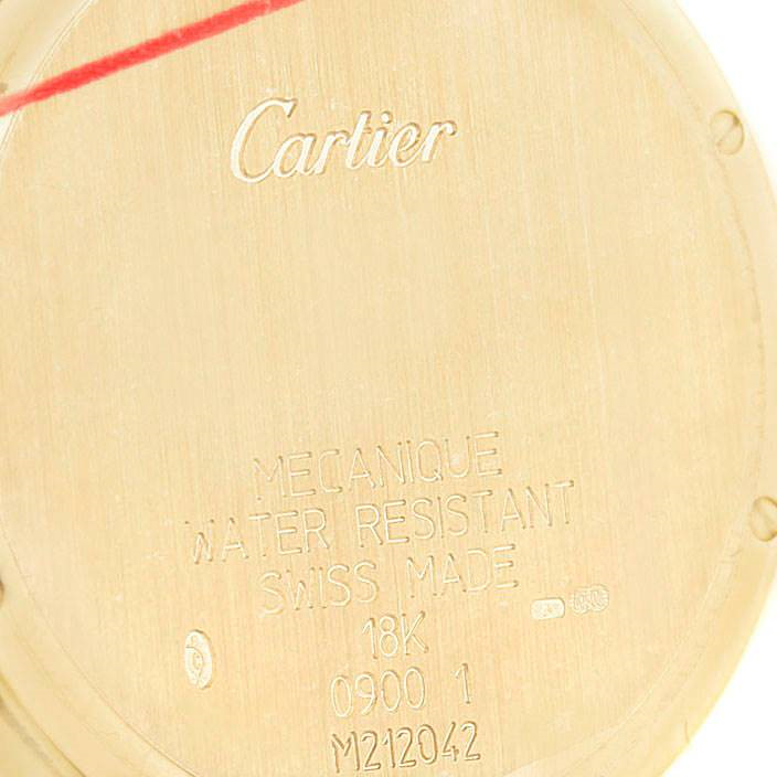 Cartier Ronde Louis Privee Collection CPCP Yellow Gold Mechanical Mens Watch SwissWatchExpo