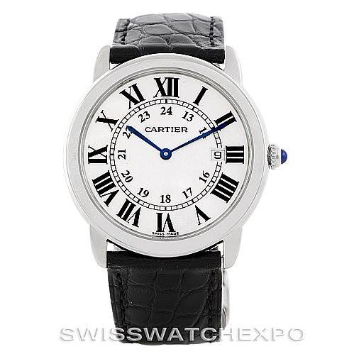 Cartier Ronde Solo Steel Mens Watch W6700255 SwissWatchExpo