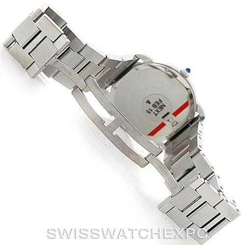 7327 Cartier Ronde Solo Steel Mens Watch W6701005 SwissWatchExpo