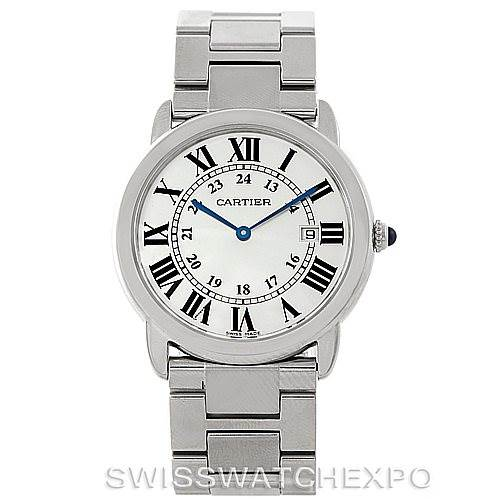 7651 Cartier Ronde Solo Steel Mens Watch W6701005 SwissWatchExpo