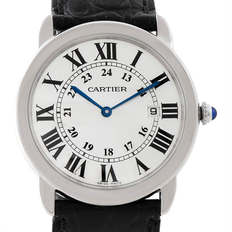 7808 Cartier Ronde Solo Steel Mens Watch W6700255 SwissWatchExpo