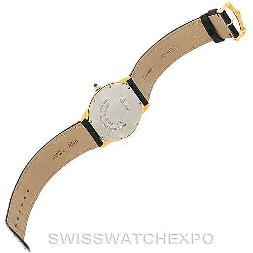 8170 Cartier Ronde Solo Gold and Steel Mens Watch W6700455 SwissWatchExpo