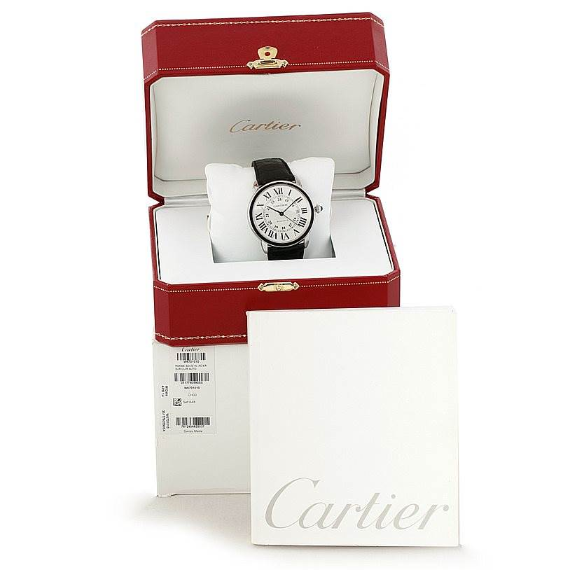 8409 Cartier Ronde Solo Automatic Steel Mens Watch W6701010 SwissWatchExpo