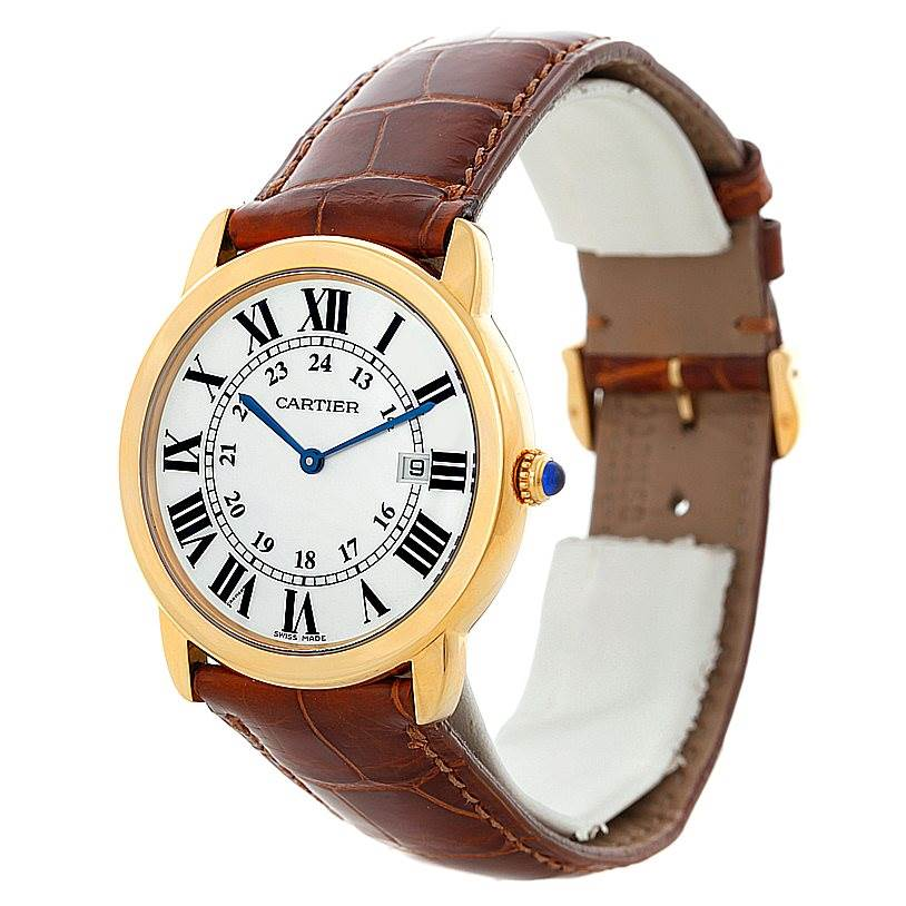 Cartier Ronde Solo Gold and Steel Mens Watch W6700455 SwissWatchExpo