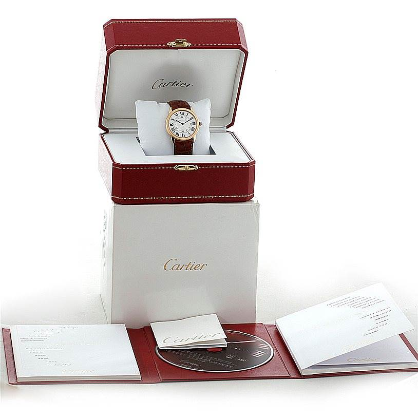 8441 Cartier Ronde Solo Gold and Steel Mens Watch W6700455 SwissWatchExpo