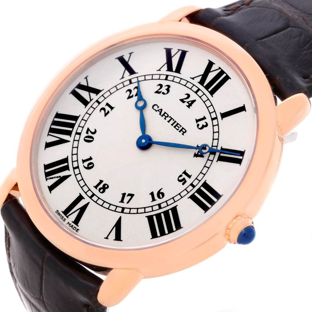 8494 Cartier Ronde Louis 18K Rose Gold Mens Watch W6800251  SwissWatchExpo