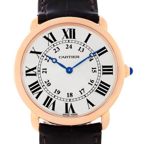Photo of Cartier Ronde Louis 18K Rose Gold Mens Watch W6800251