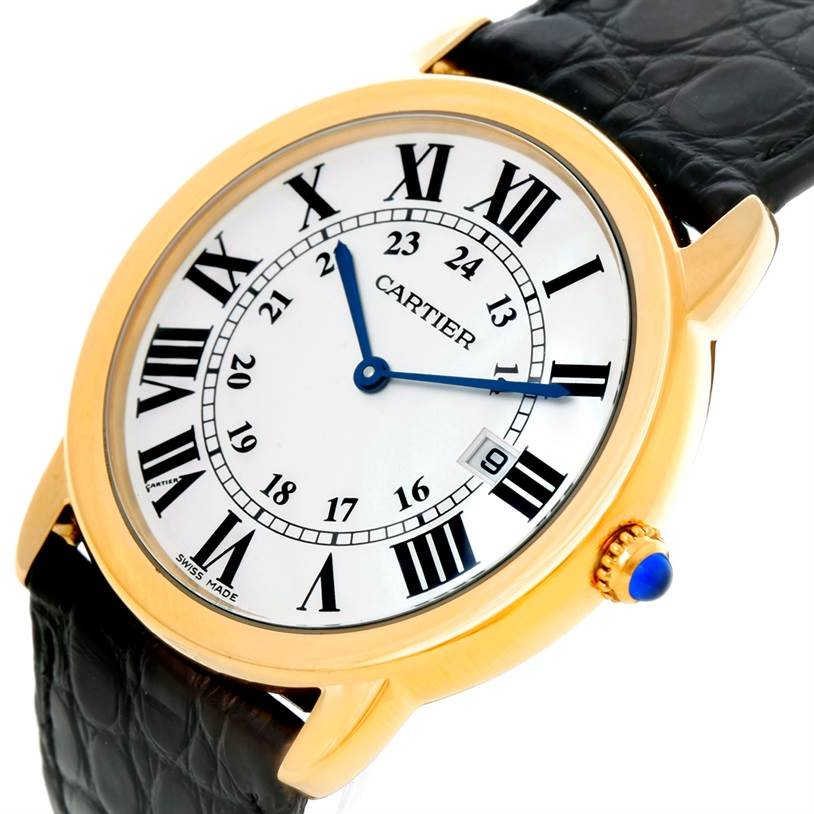 8543 Cartier Ronde Solo Gold and Steel Mens Watch W6700455 SwissWatchExpo