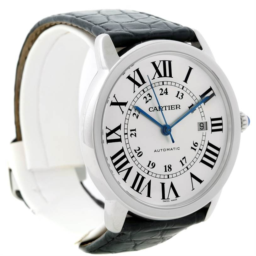 8734 Cartier Ronde Solo Automatic Steel Mens Watch W6701010 SwissWatchExpo