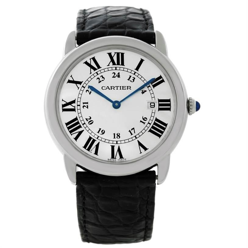 8733 Cartier Ronde Solo Steel Mens Watch W6700255 SwissWatchExpo