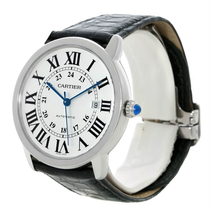 8857 Cartier Ronde Solo Automatic Steel Mens Watch W6701010 SwissWatchExpo