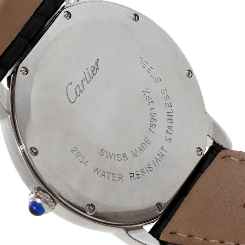 8904 Cartier Ronde Solo Stainless Steel Mens Watch W6700255 SwissWatchExpo
