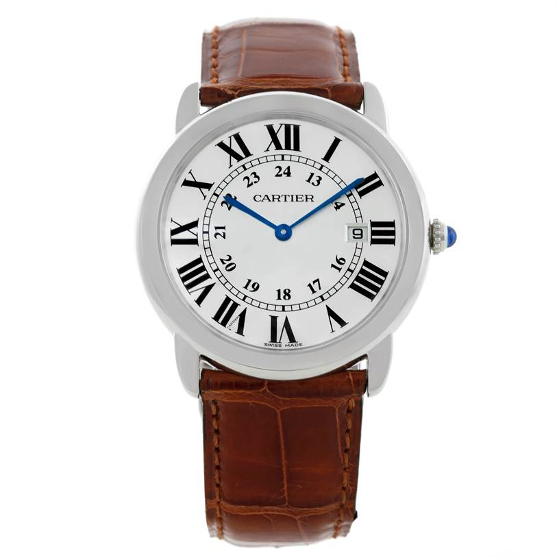 9319 Cartier Ronde Solo Stainless Steel Silver Dial Quartz Watch W6700255 SwissWatchExpo