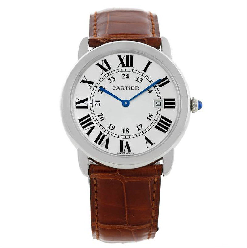 Cartier Ronde Solo Stainless Steel Silver Dial Quartz Watch W6700255 SwissWatchExpo