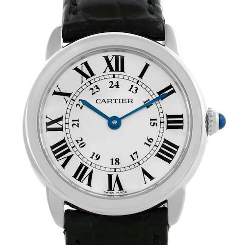 Photo of Cartier Ronde Solo Steel Ladies Silver Dial Watch W6700155