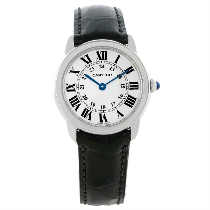 10803 Cartier Ronde Solo Stainless Steel Ladies Watch W6700155 Box Papers SwissWatchExpo
