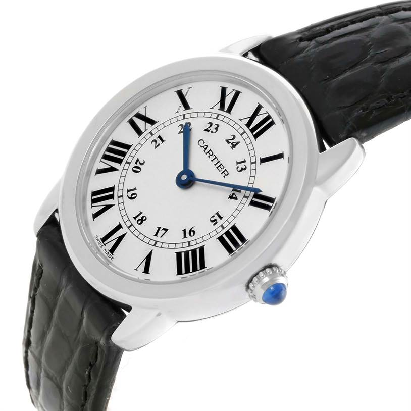 11471 Cartier Ronde Solo Stainless Steel Ladies Watch W6700155 Unworn SwissWatchExpo