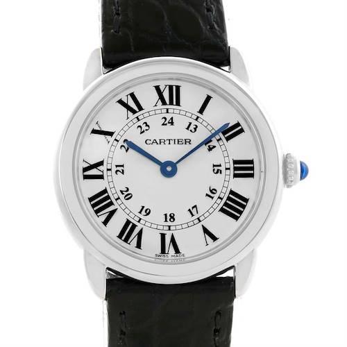Photo of Cartier Ronde Solo Stainless Steel Ladies Watch W6700155 Unworn