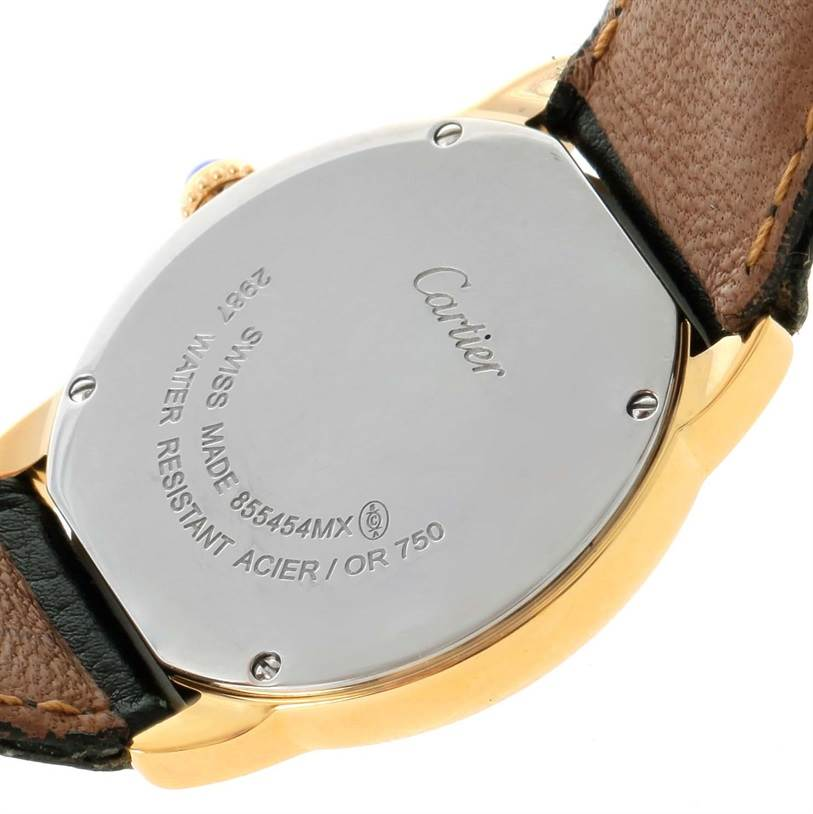 12212 Cartier Ronde Solo Steel 18K Yellow Gold Small Ladies Watch W6700355 SwissWatchExpo