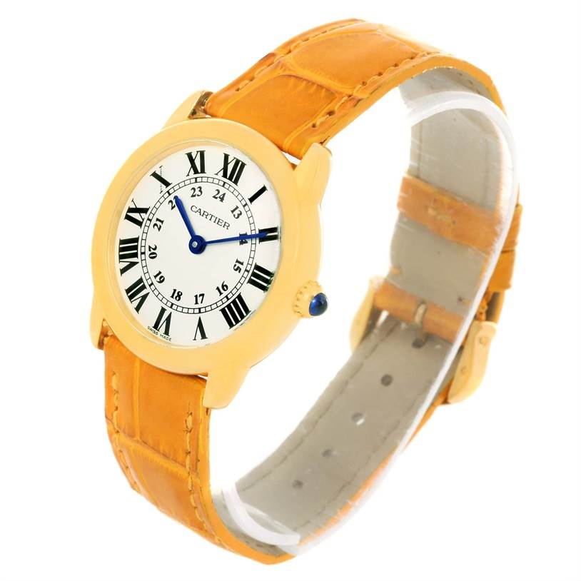 12250 Cartier Ronde Solo Steel 18K Yellow Gold Small Ladies Watch W6700355 SwissWatchExpo