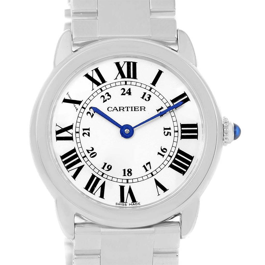 13795 Cartier Ronde Solo Stainless Steel Ladies Watch W6701004 Year 2014 SwissWatchExpo