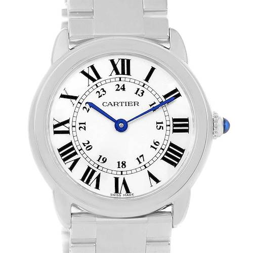 Photo of Cartier Ronde Solo Stainless Steel Ladies Watch W6701004 Year 2014