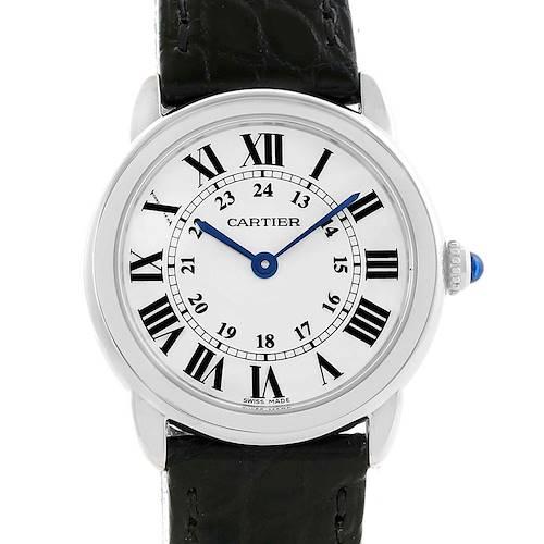 Photo of Cartier Ronde Solo Small Steel Ladies Watch W6700155 Unworn