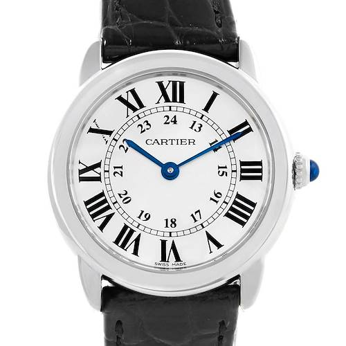 Photo of Cartier Ronde Solo Silver Dial Quarts Steel Ladies Watch W6700155