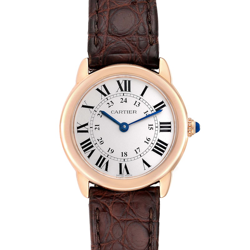 Cartier Ronde Solo Steel 18K Rose Gold Small Ladies Watch W6701007 SwissWatchExpo