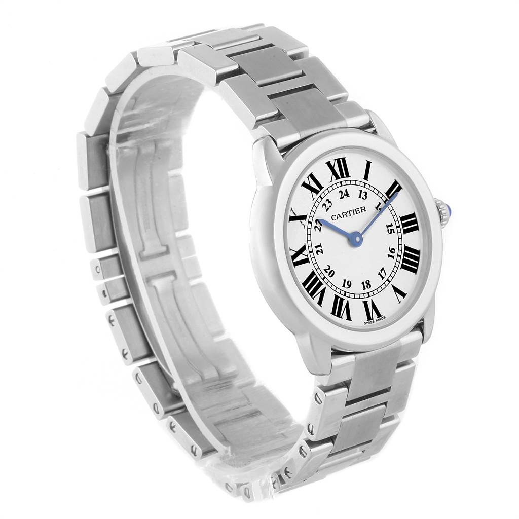 22177 Cartier Ronde Solo Stainless Steel Quartz Ladies Watch W6701004 SwissWatchExpo
