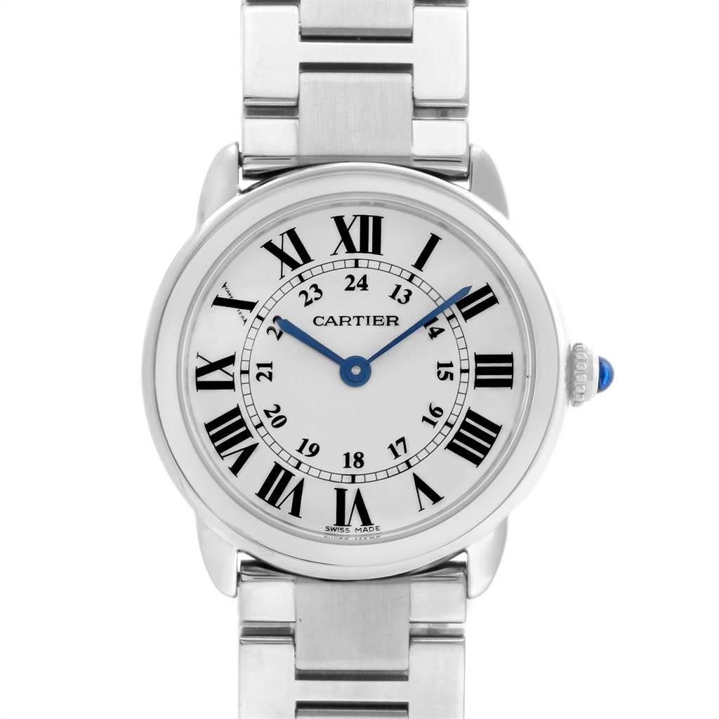 Cartier Ronde Solo Stainless Steel Quartz Ladies Watch W6701004 SwissWatchExpo