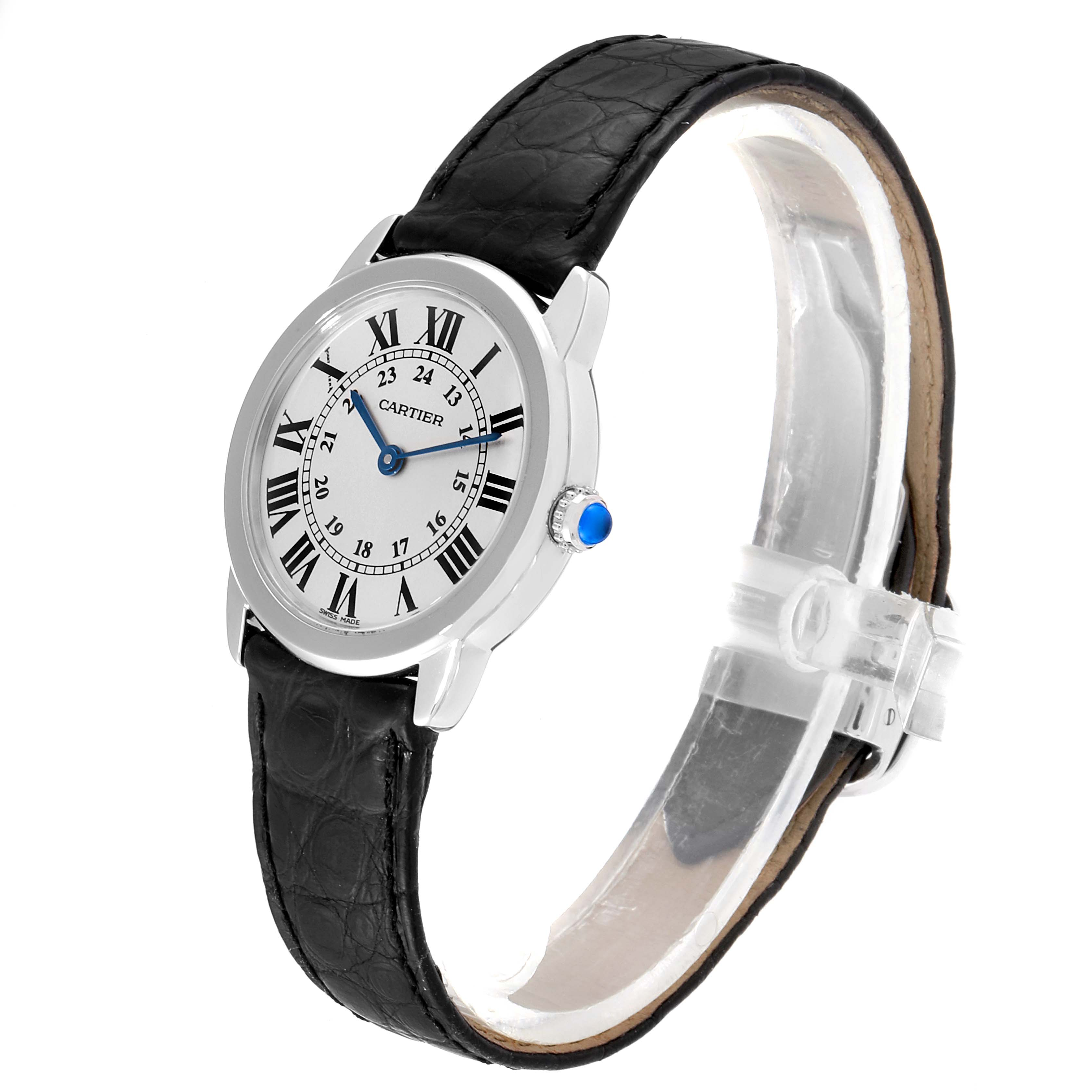 Cartier Ronde Solo Silver Dial Quarts Steel Ladies Watch W6700155 SwissWatchExpo