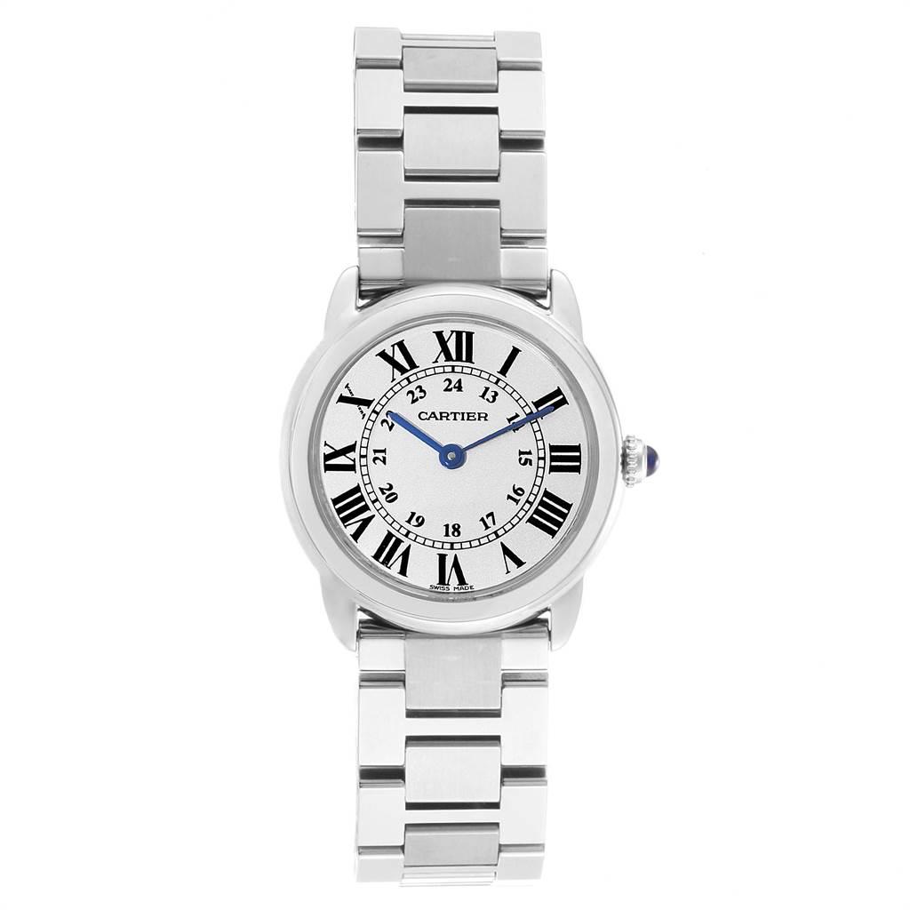 21441 Cartier Ronde Solo Stainless Steel Quartz Ladies Watch W6701004 SwissWatchExpo