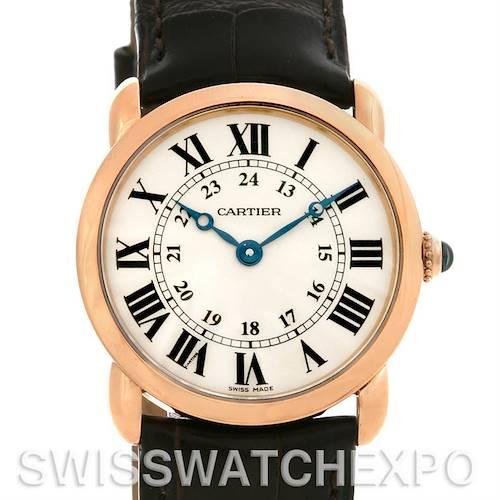 Photo of Cartier Ronde Louis 18K Rose Gold Ladies Watch W6800151