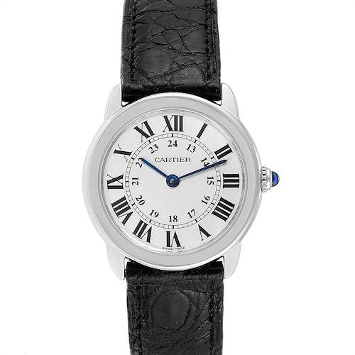 Photo of Cartier Ronde Solo Silver Dial Quarts Steel Ladies Watch W6700155 Box