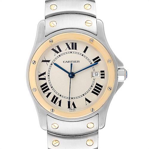 Photo of Cartier Santos Ronde 33mm Yellow Gold Steel Unisex Watch W20036R3