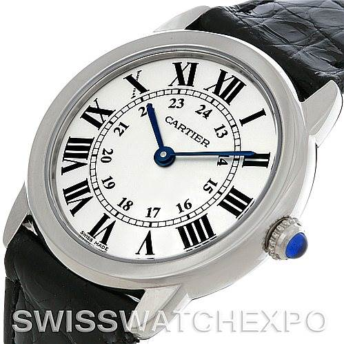 4716 Cartier Ronde Solo Steel Ladies Watch W6700155 SwissWatchExpo