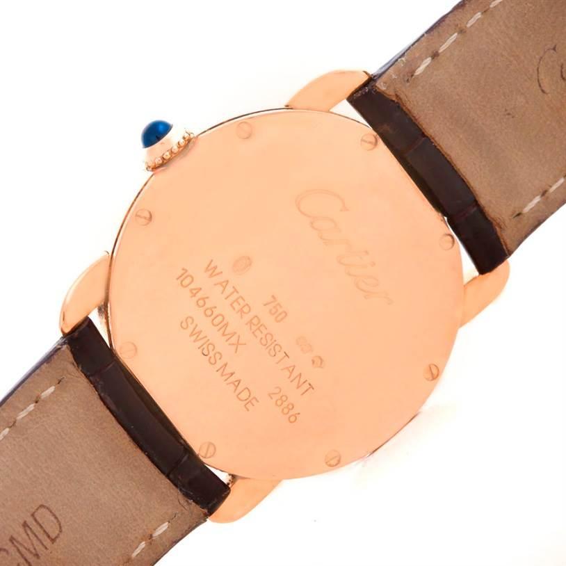 6240 Cartier Ronde Louis 18K Rose Gold Ladies Watch W6800151 Unworn SwissWatchExpo