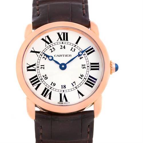 Photo of Cartier Ronde Louis 18K Rose Gold Ladies Watch W6800151 Unworn