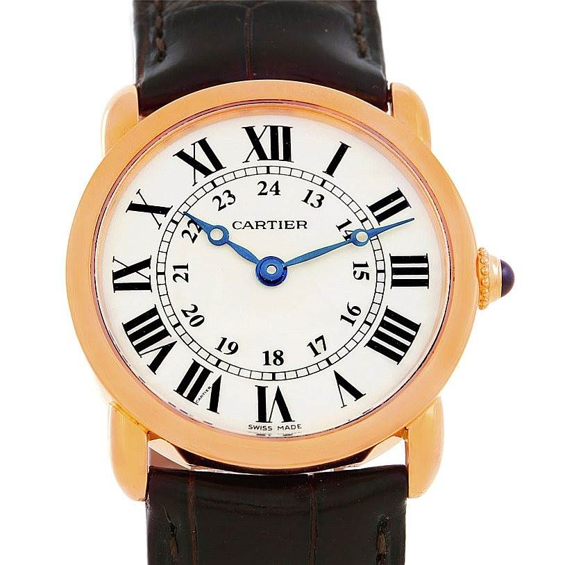 6482 Cartier Ronde Louis 18K Rose Gold Ladies Watch W6800151 SwissWatchExpo