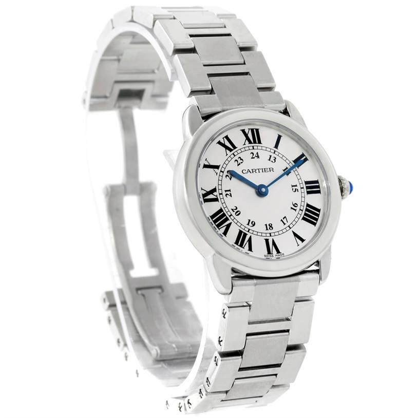 8740 Cartier Ronde Solo Small Stainless Steel Ladies Watch W6701004 SwissWatchExpo