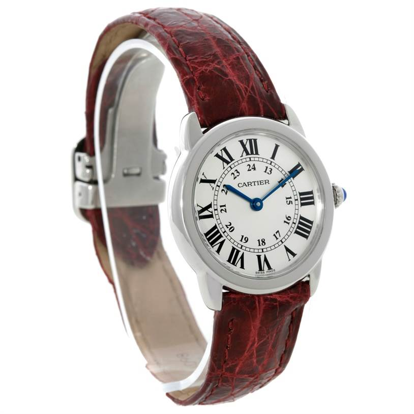 8867 Cartier Ronde Solo Steel Ladies Watch W6700155 SwissWatchExpo