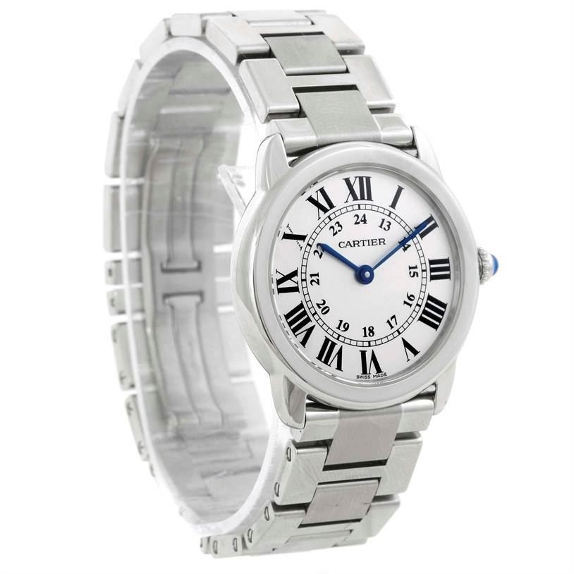 9736 Cartier Ronde Solo Small Steel Ladies Watch W6701004 SwissWatchExpo