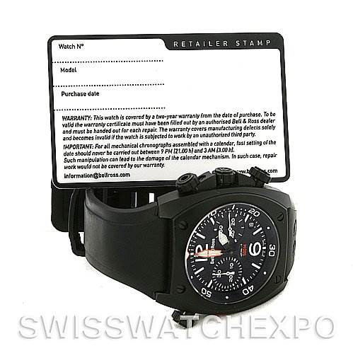 Bell and Ross Marine Mens Chronograph Automatic Watch BR-02-94-Carbon SwissWatchExpo
