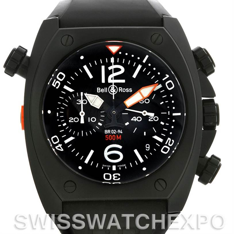 4178  Bell and Ross Marine Mens Chronograph Automatic Watch BR-02-94-Carbon SwissWatchExpo