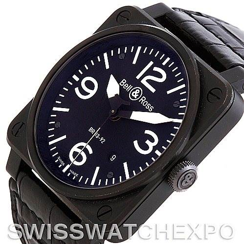 5804 Bell Ross Instrument Aviation Automatic Watch BR03-92-S SwissWatchExpo