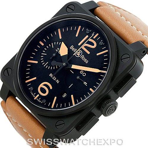 Bell & Ross Heritage Automatic Mens Watch BR-03-94 SwissWatchExpo
